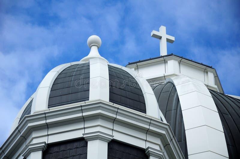 Tornspiror av St Joseph Basilica royaltyfri fotografi