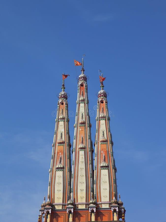 Tornspiror för hinduisk tempel arkivbilder