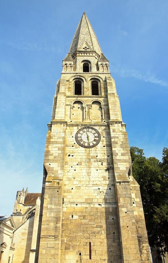 TornSt Jean (Auxerre Frankrike) royaltyfri fotografi