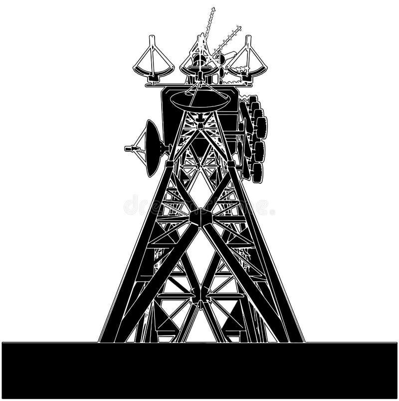 tornvektor för 02 telekommunikationar royaltyfri illustrationer