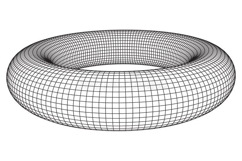 Toro abstracto del wireframe ilustración del vector