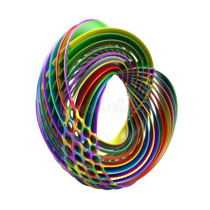 Toro acodado colorido abstracto aislado en blanco ilustración del vector