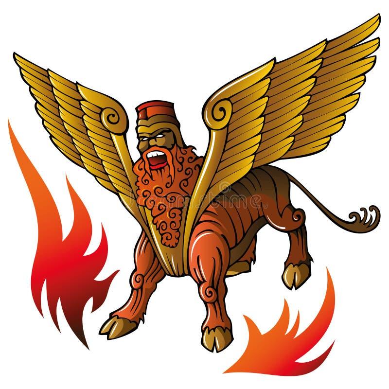 Toro asirio stock de ilustración