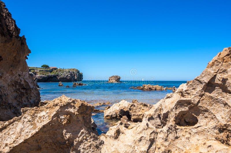 Toro Beach, Llanes, Asturias, Spain. Toro Beach in Llanes. Asturias, north of Spain stock images