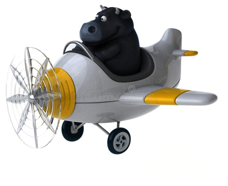 Toro de la diversión - ejemplo 3D ilustración del vector