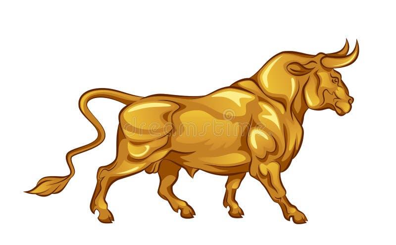 Toro de oro stock de ilustración