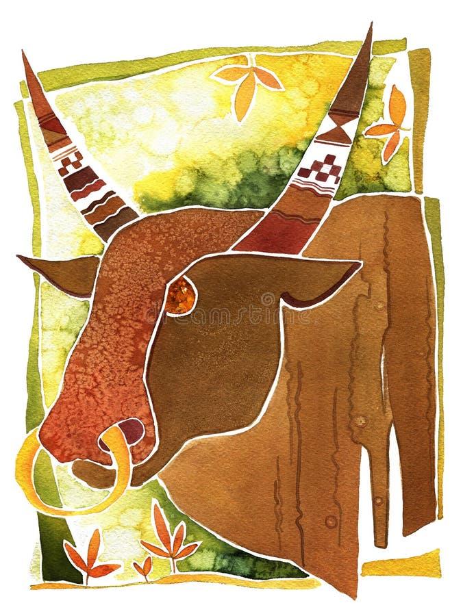 Toro, Toro di simbolo di astrologia royalty illustrazione gratis