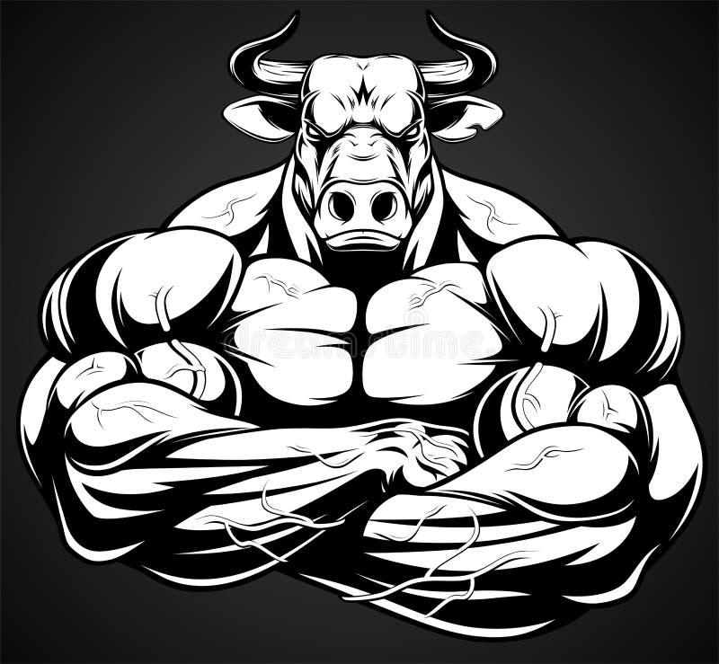 Toro feroz fuerte libre illustration