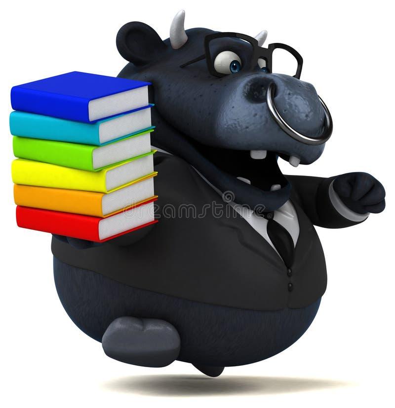 Toro negro - ejemplo 3D stock de ilustración
