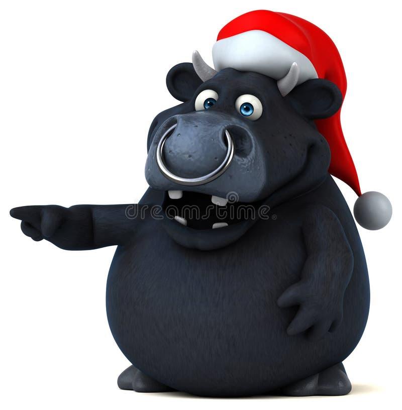 Toro negro - ejemplo 3D libre illustration