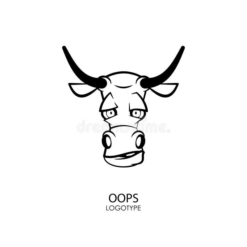Toro principal divertido stock de ilustración