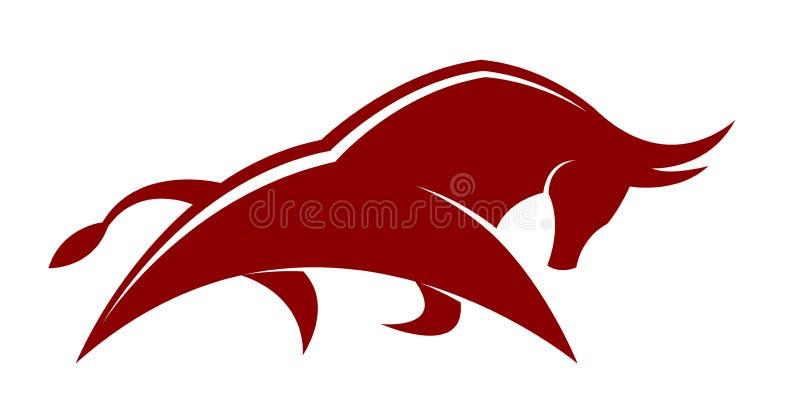 Toro rojo stock de ilustración