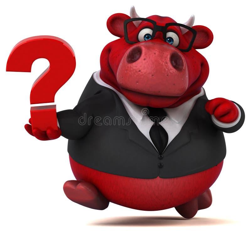 Toro rojo - ejemplo 3D stock de ilustración