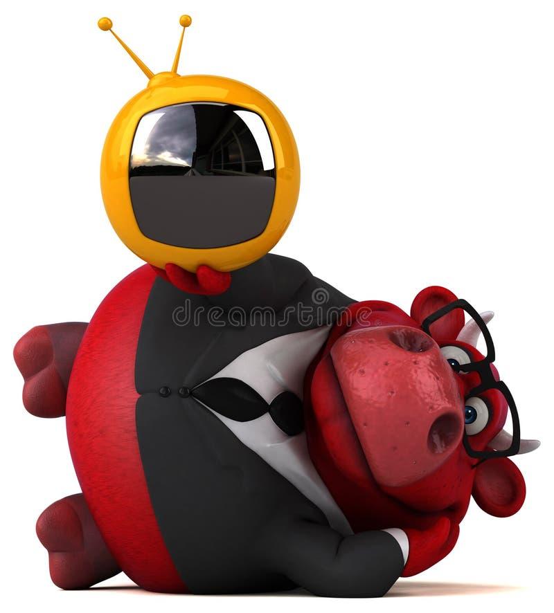 Toro rojo - ejemplo 3D libre illustration