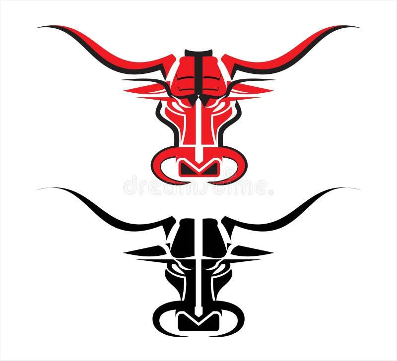 Toro rojo salvaje ilustración del vector