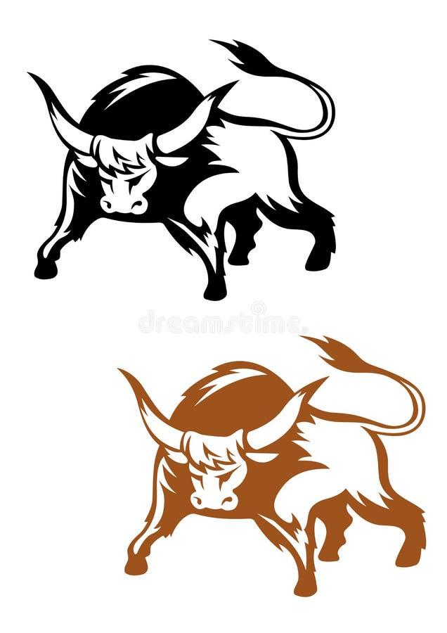 Toro salvaje del búfalo ilustración del vector