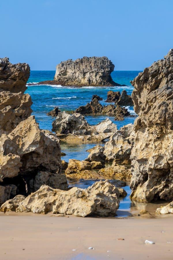 Toro strand, Llanes, Asturias, Spanien royaltyfri foto