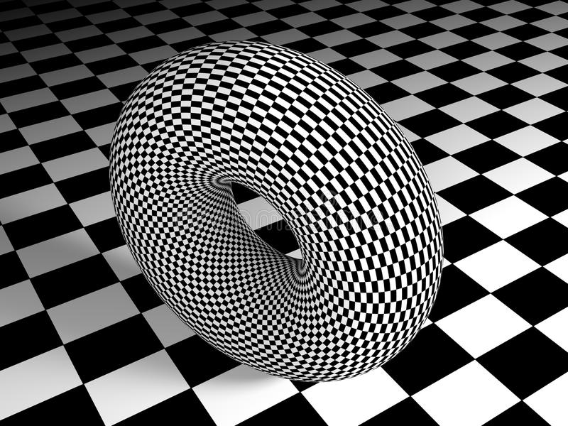 Toro texturizado en la superficie texturizada - representación 3D ilustración del vector