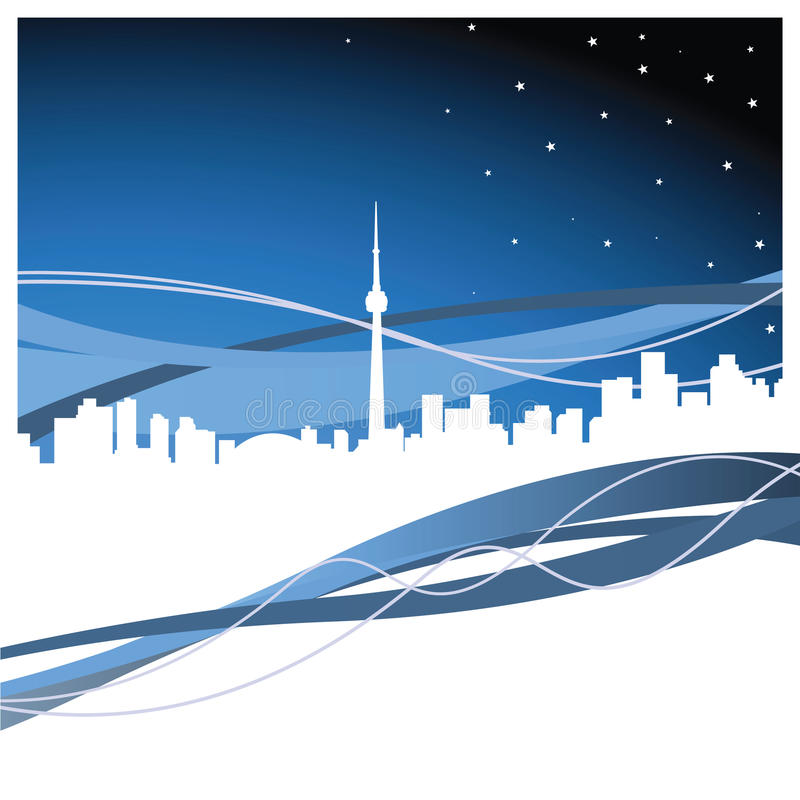Toronto royalty free illustration