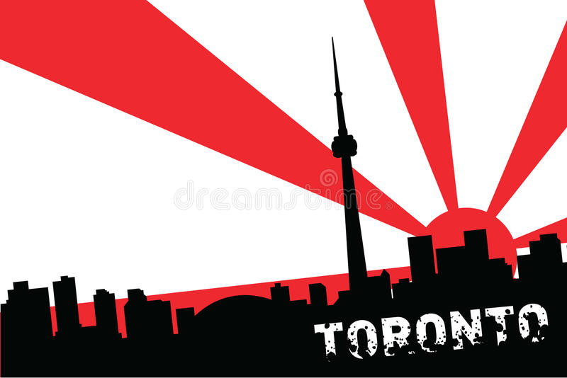 toronto royaltyfri illustrationer