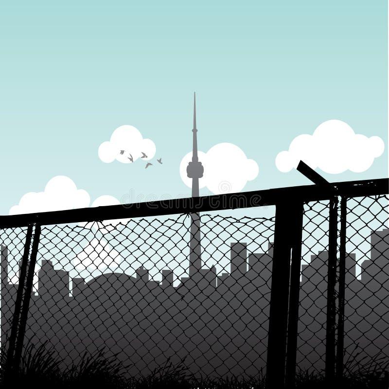 Download Toronto stock vector. Image of skyscraper, fence, scenery - 23499256