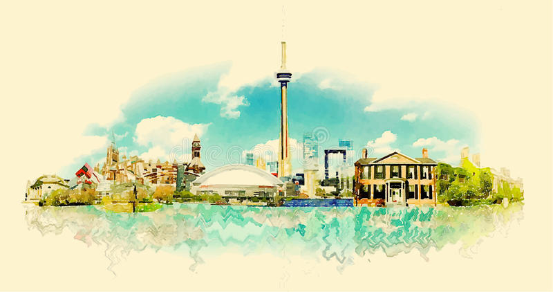 toronto illustration libre de droits
