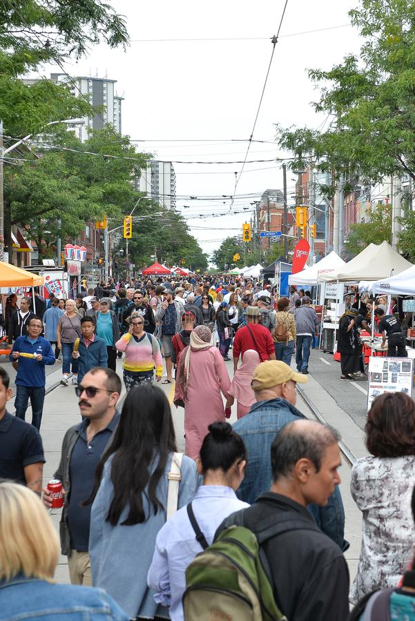 Toronto annual Cabbagetown Festival 2019 royalty free stock images