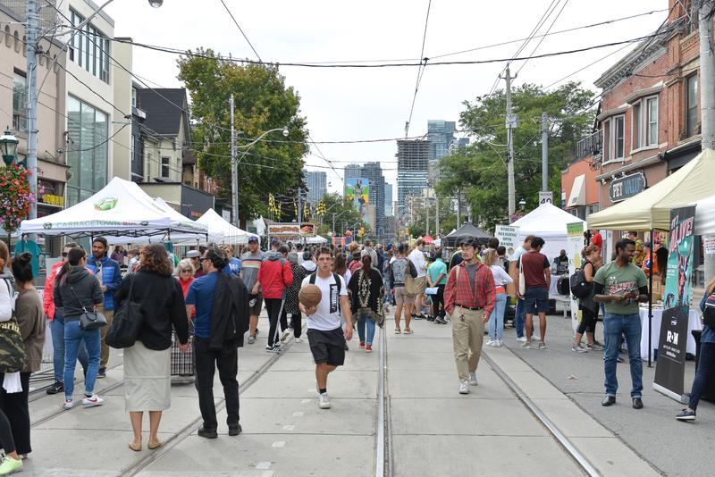 Toronto annual Cabbagetown Festival 2019 royalty free stock photography