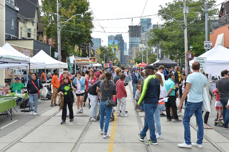 Toronto annual Cabbagetown Festival 2019 stock images