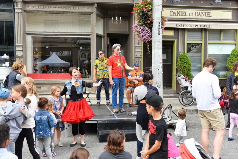 Toronto annual Cabbagetown Festival 2019 royalty free stock photo