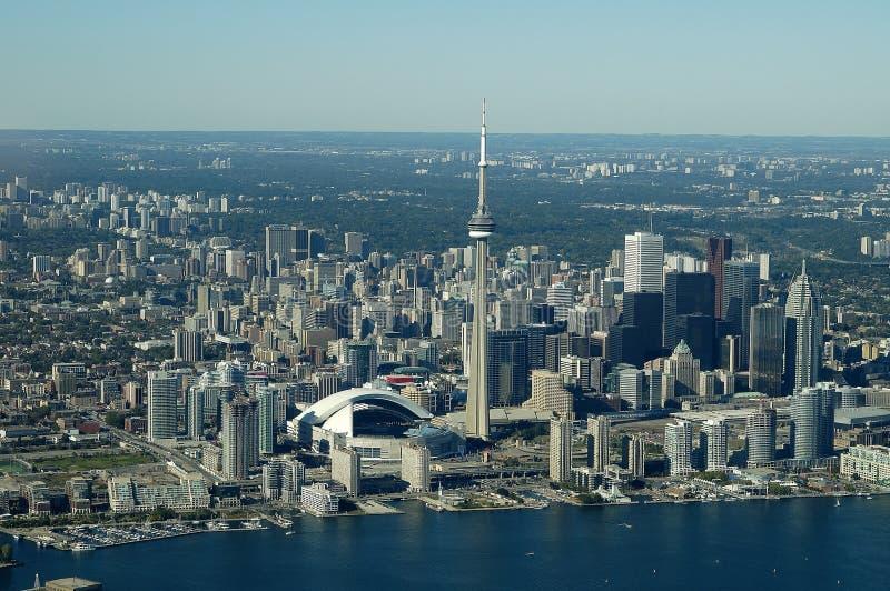 Toronto-Antennen-Skyline stockfotografie