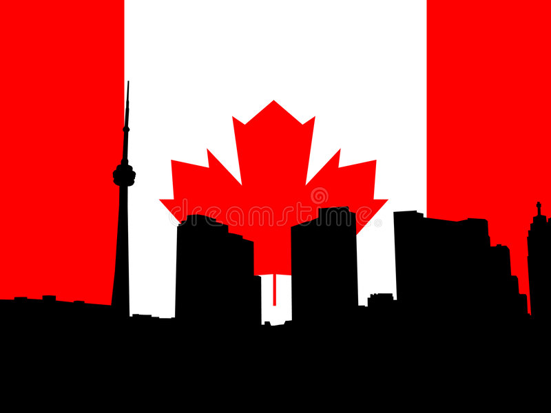 Toronto bandery ilustracja wektor