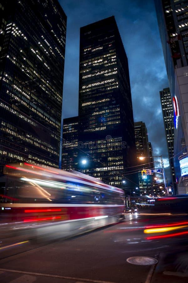 Toronto bij nacht stock foto