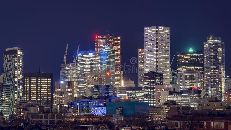Toronto bis zum Nacht lizenzfreies stockbild