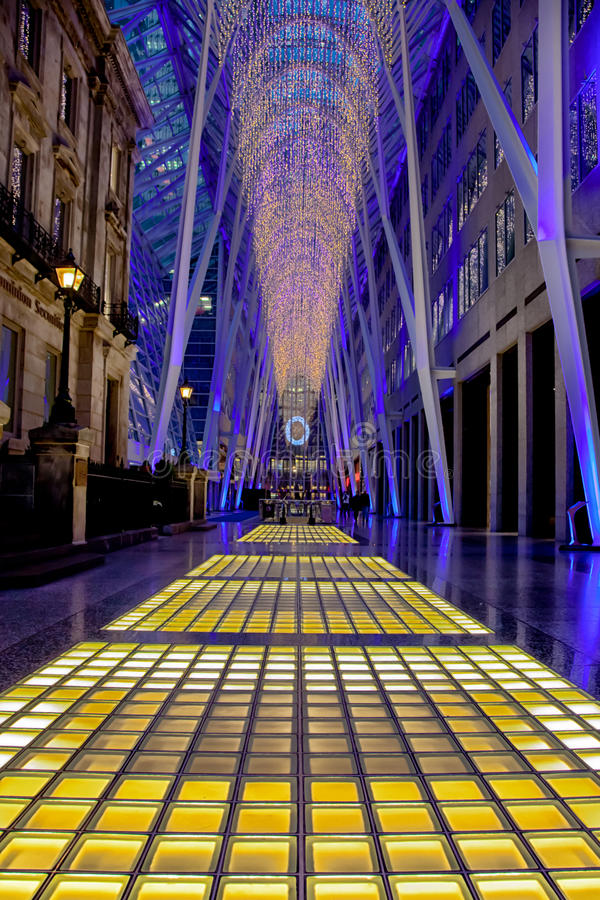 Download Toronto Brookfield Place Christmas Lights Editorial Stock Image - Image: 28233629