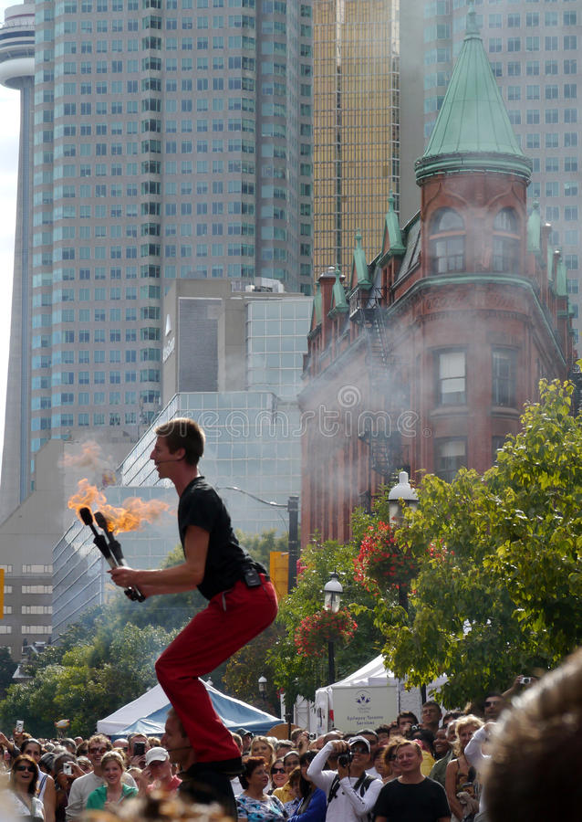 Toronto Buskerfest, agosto de 2011 fotos de archivo