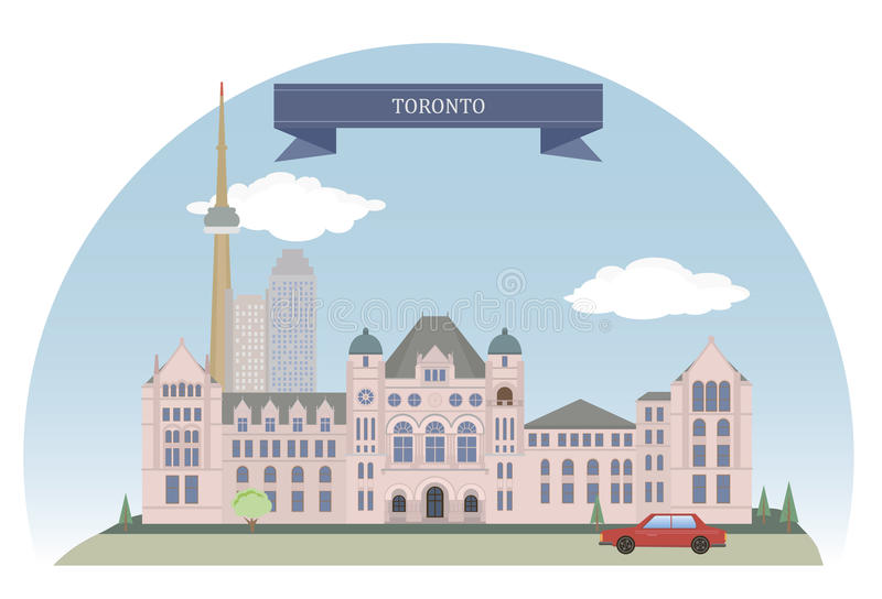 Toronto, Canada. Toronto. City in Canada and the provincial capital of Ontario vector illustration