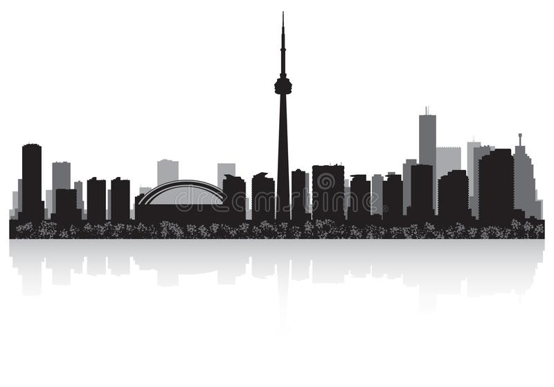 Toronto Canada city skyline vector silhouette royalty free illustration
