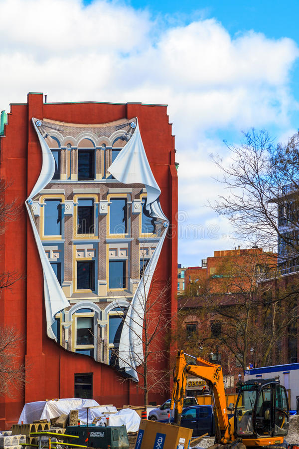 Toronto Canada. 5.FEB. 2016:The Flatiron (Gooderham) Building in Toronto Downtown The red-brick Gooderham Building is a historic landmark located on the eastern stock image