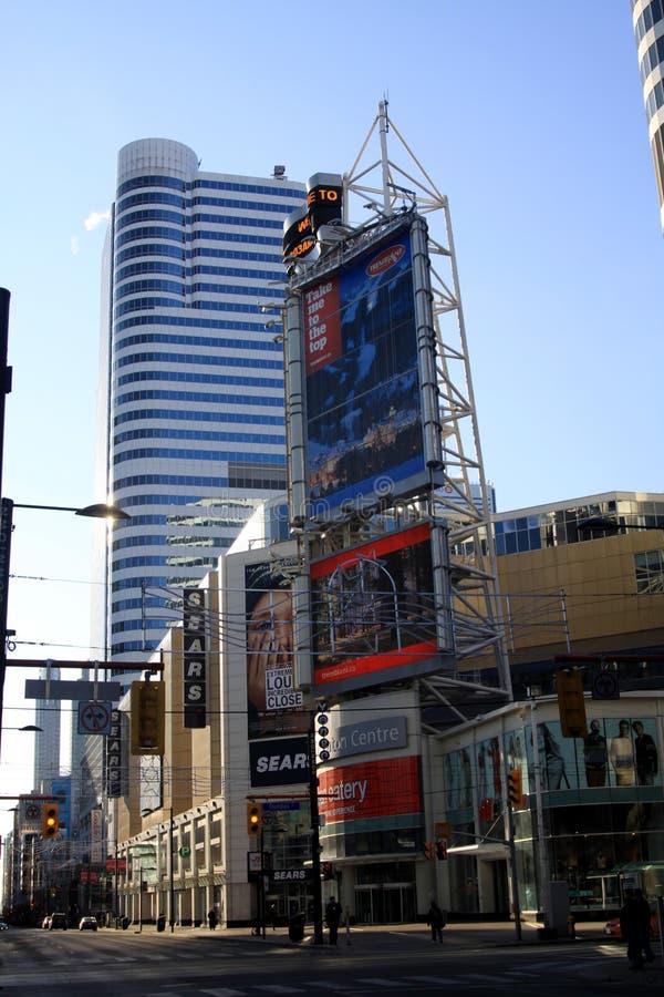 TORONTO, CANADA - 8 GENNAIO 2012: Paesaggio urbano di Toronto centrale fotografie stock libere da diritti