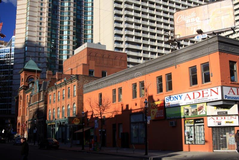 TORONTO, CANADA - 8 GENNAIO 2012: Paesaggio urbano di Toronto centrale fotografia stock libera da diritti