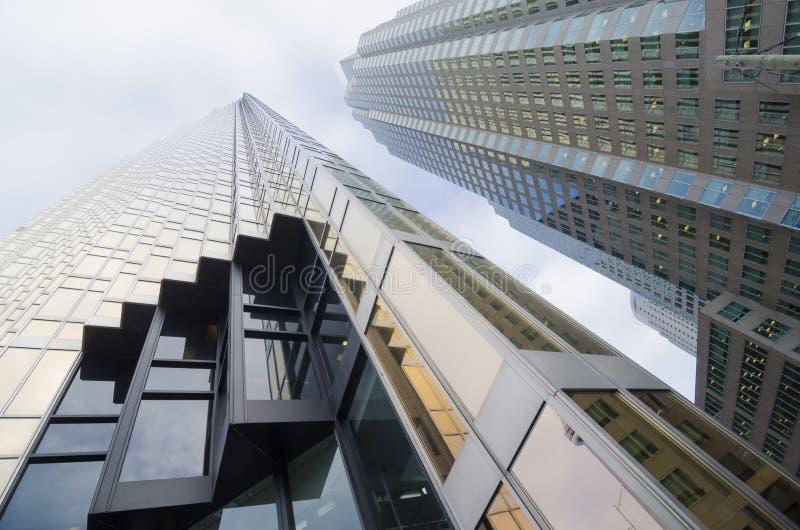 Toronto, Canada - Januari 27, 2016: Wolkenkrabbers in Toronto Van de binnenstad, Financieel district royalty-vrije stock foto's