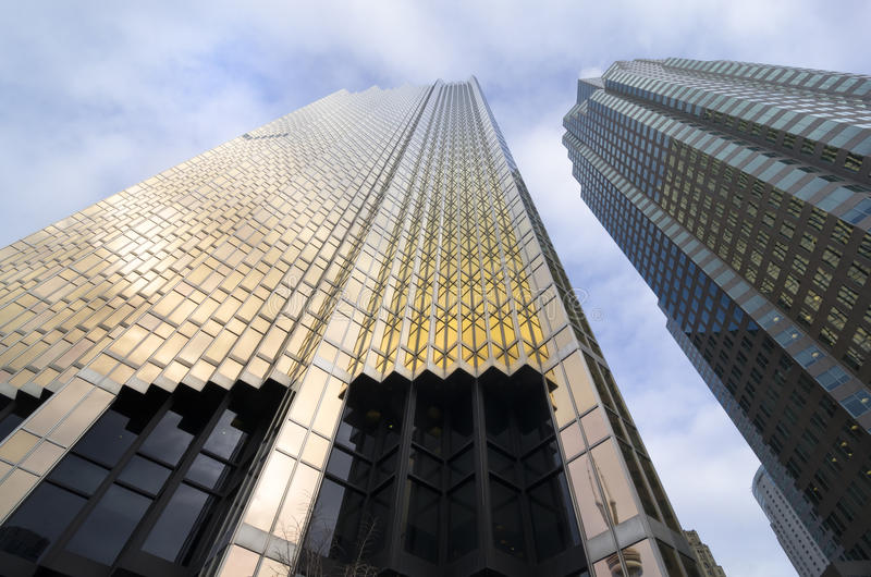 Toronto, Canada - 27 janvier 2016 : Gratte-ciel à Toronto du centre, secteur financier photographie stock