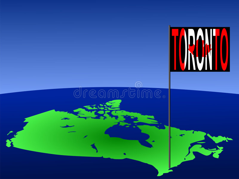Toronto on Canada map royalty free illustration