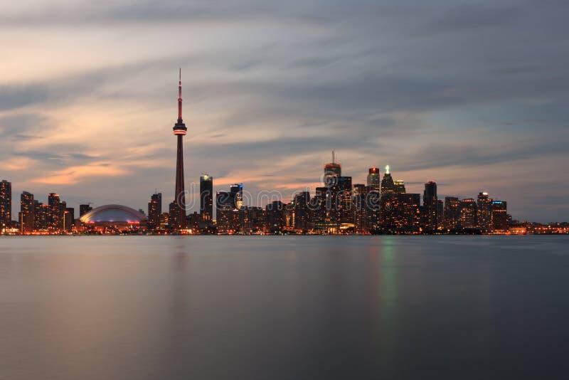 Toronto Canada, nightscape royalty-vrije stock foto's