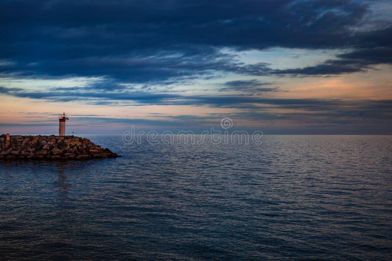 Toronto, CANADA - October 25, 2018: Promenade park, and Marina at sunset, Toronto, Canada royalty free stock photography