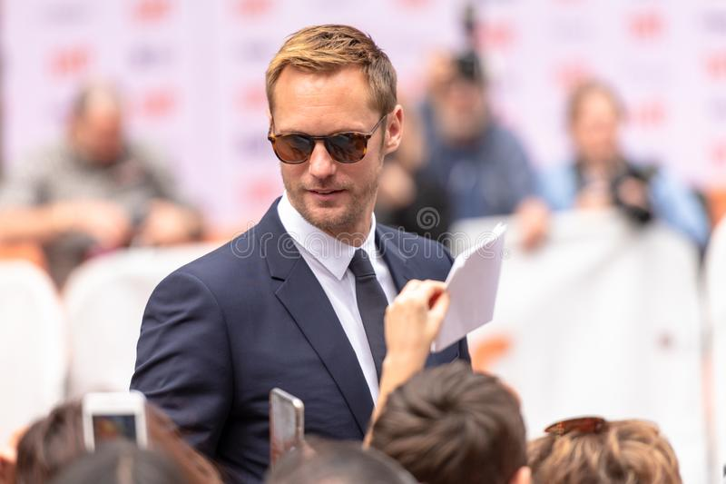 Toronto International Film Festival TIFF 2018, Canada. Toronto, Canada-September 8, 2018: Alexander Skarsgard. Celebrities attending this year TIFF. The Toronto royalty free stock photography