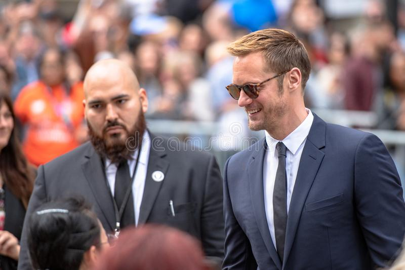 Toronto International Film Festival TIFF 2018, Canada. Toronto, Canada-September 8, 2018: Alexander Skarsgard. Celebrities attending this year TIFF. The Toronto royalty free stock photo