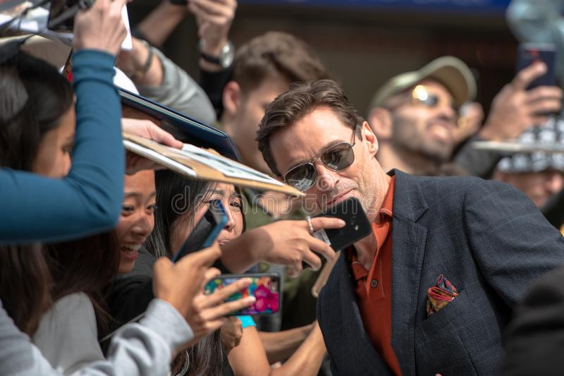 Toronto International Film Festival TIFF 2018, Canada. Toronto, Canada-September 8, 2018: Hugh Jackman. Celebrities attending this year TIFF. The Toronto stock images