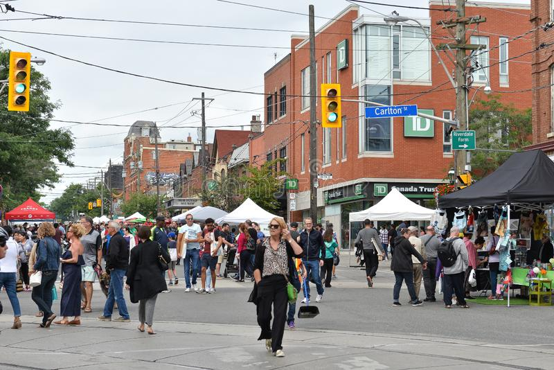 Toronto annual Cabbagetown Festival 2019 stock photography